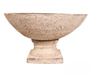 Ancient Water Bowl and Pedestal